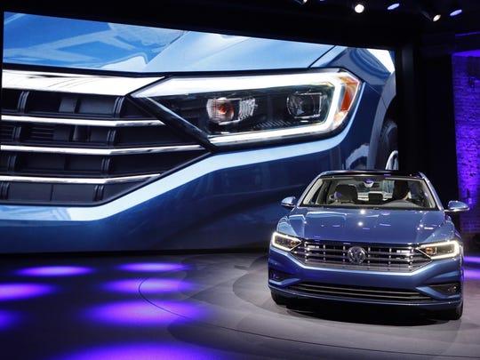 The 2019 Volkswagen Jetta sedan debuts at the Detroit