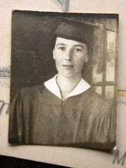 "Hilda ""Birdle"" Mannon's high school graduation photo"