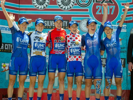 United Health Care Pro Cycling swept the podium during