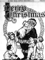 Merry Christmas from the El Paso Times, Dec. 25, 1911.