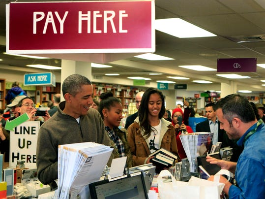 Obama Visits Local Bookstore On Small Business Saturday