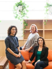The three mom founders of HopSkipDrive are, left to