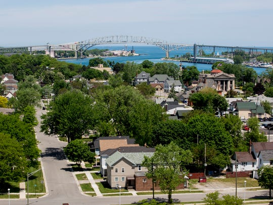 A view of Port Huron as seen Wednesday, June 1, 2016 from the SC4 Tower. The tower will be open to the public as part of Be a Tourist in Your Own Town day this Saturday.