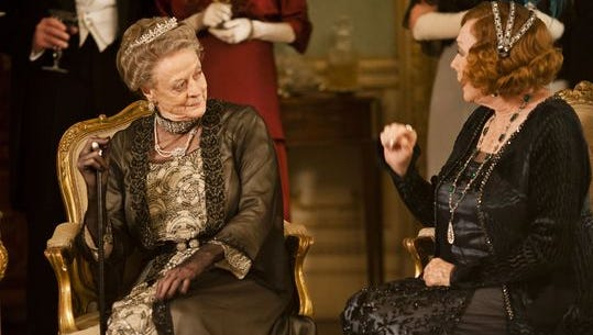Maggie Smith, left, is joined by another acting great, Shirley MacLaine, during Season 3 of 'Downton Abbey.'