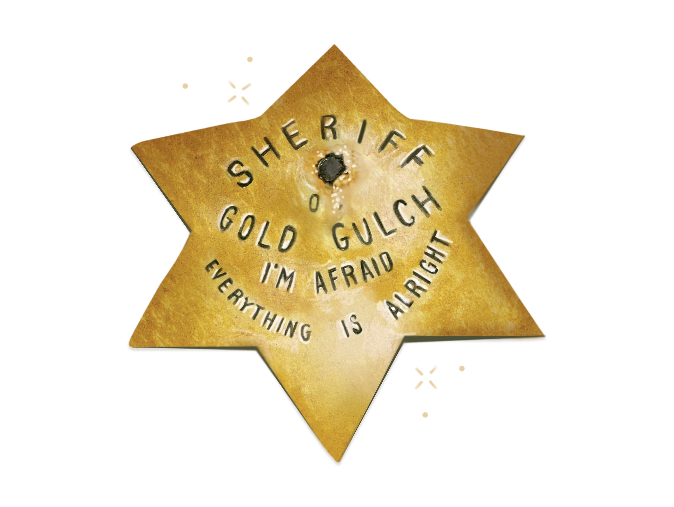Harry Oliver's old sheriff's badge from Gold Gulch,