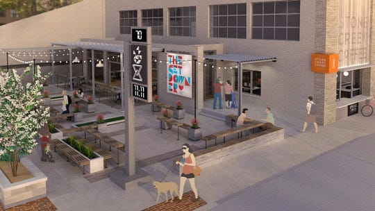 Stone Creek Coffee plans a large patio with a three-season