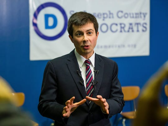 Pete Buttigieg, mayor of South Bend, Ind., is a progressive