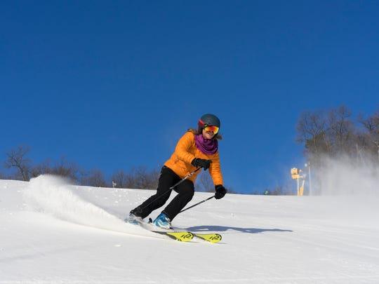 A woman skis this season at Whitetail Resort.