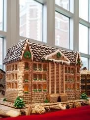 The Culinary Institute of America's main building, Roth Hall, inspired this gingerbread house that was made by students in 2015.