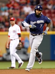 Eric Thames of the Brewers has been one of the best stories of the young baseball season.