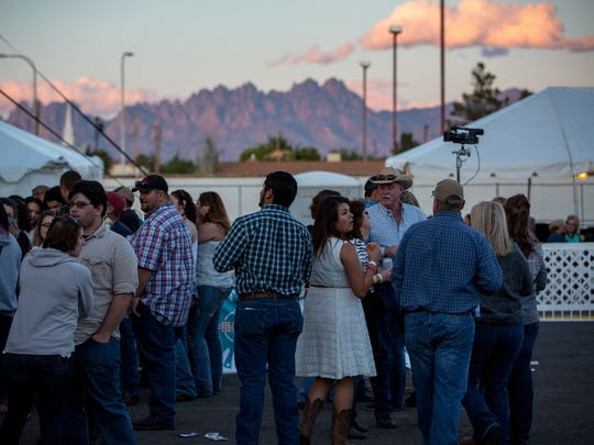 Visitors to the Las Cruces Country Music Festival in 2016, when it was still held downtown. There will be no music fest in 2020, though officials sent mixed signals on whether it would be discontinued or was on a hiatus.