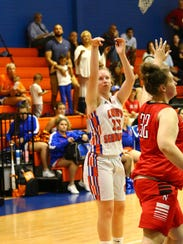 Cape Coral's Alexia Poposki drains a shot  during the