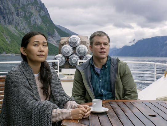 Hong Chau plays Ngoc Lan Tran and Matt Damon plays