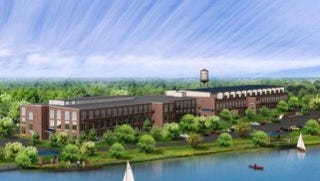 A rendering of the Lofts by the Lake at the Historic Apalache Mill.