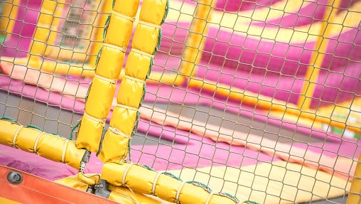 trampoline playground