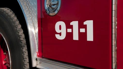 A construction crew working near 4th and Race streets struck a gas main, sparking a fire.