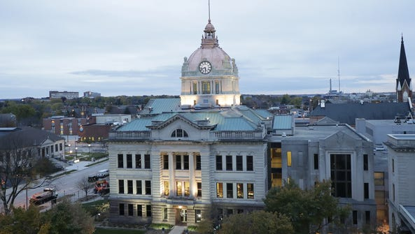 The Brown County Courthouse, with its refurbished rotunda