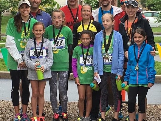 Place winners from last weekend's Go Girls Go 5K in Chambersburg pose for a photo.