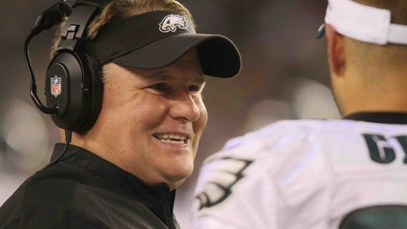 """""""The bottom line is I think Chip has got his own plan, and I don't know what it is,"""" NFL Network draft analyst Mike Mayock said of Eagles coach Chip Kelly."""