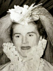 Avriel Shull, 1951, at her wedding. Her husband was