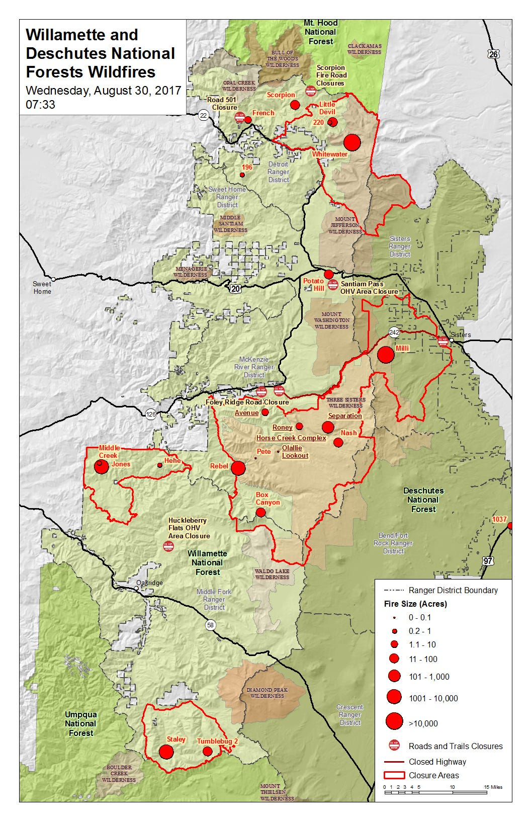 Oregon wildfires continue to burn Where should you avoid