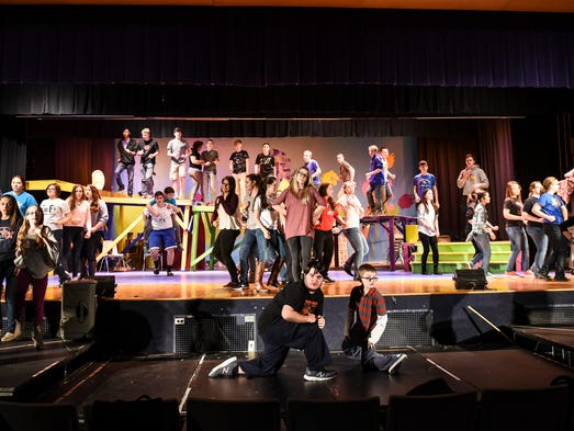 The cast and crew of Northern Lebanon High School's