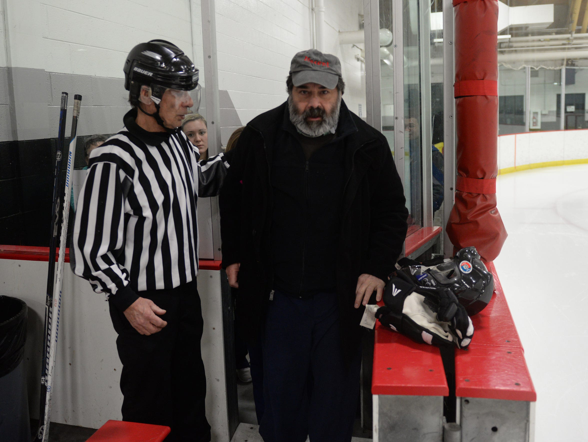 Providing inspiration to the players, the Rev. Dimitrie Vincent climbed out of his wheelchair and onto the bench area where is longtime friend and fellow priest, the Rev. Andrew Yavornitzky of St. Mark Orthodox Church in Rochester Hills gave a blessing before the start of each game.