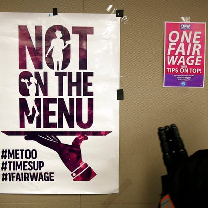 Tipped workers invoke #MeToo in fight to raise minimum wage