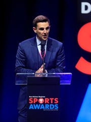 CBS Sports HQ anchor Chris Hassel speaks Saturday,