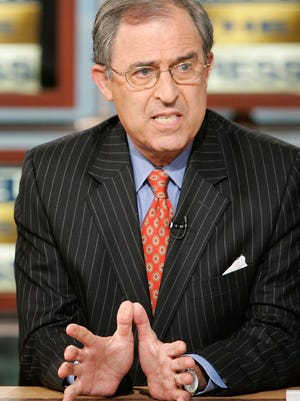 Lanny Davis during a taping of NBC's Meet the Press in 2008.