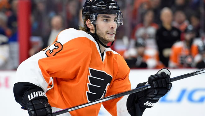 Flyers defenseman Shayne Gostisbehere has 34 points in his first 41 games this season.