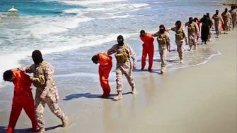 A video released by Islamic State militants on April 19 appears to show the killing of a group of captured Ethiopian Christians in Libya.