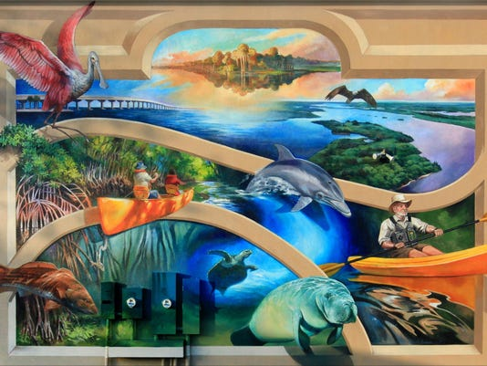 Second Mural Paddling our Wildlife Paradise