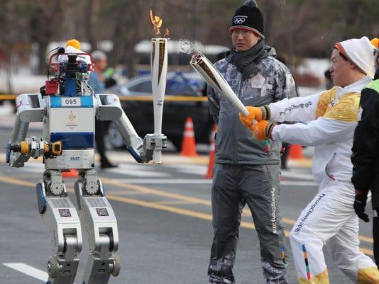 AP SOUTH KOREA PYEONGCHANG OLYMPICS FLAME S OLY KOR