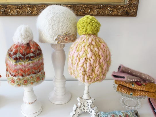 A selection of French Knot hats.