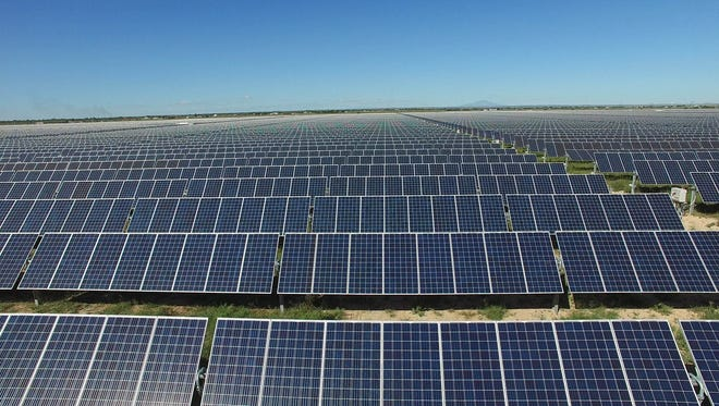 The two solar energy facilities sit on around 1,400 acres of land.