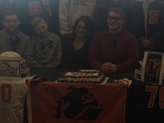 Burkburnett's Shane Huizenga signed with Morningside College on Wednesday.