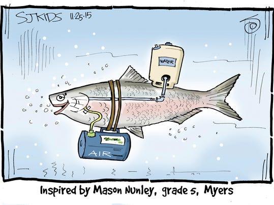 Sj kids how do gills allow fish to breathe underwater for How do fish breathe underwater