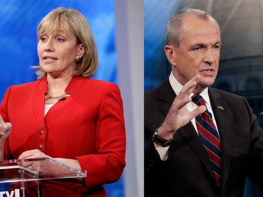 Kim Guadagno and Phil Murphy will meet Tuesday night