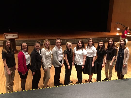 OHS FCCLA, from left,  Allison Gargus, Kyla Landers,