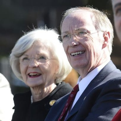 Gov. Robert Bentley and First Lady Dianne Bentley attend