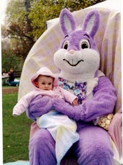Photo ops with the Easter Bunny are part of the fun