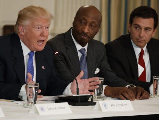 Donald Trump,Kenneth Frazier,Mark Fields