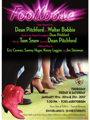 """""""Footloose"""" will be performed by students at Treasure Coast High School in Port St. Lucie."""
