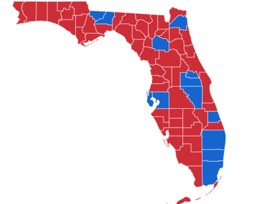 Election map from 2018 midterms.