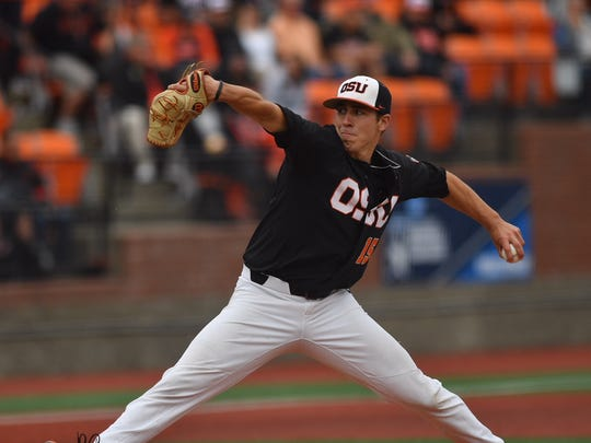 OSU pitcher Luke Heimlich leads the nation with 16 wins.