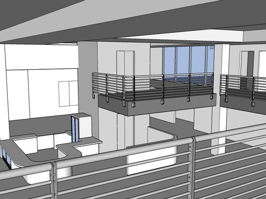 A rendering of the AtlantiCare LifeCenter Fitness at Tropicana, which is expected to open in May 2015.