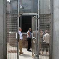 A delegation from Georgia takes a tour of Oshkosh Correctional Institution in 2014. The Georgian delegation came to learn about how the corrections system operates in Wisconsin.