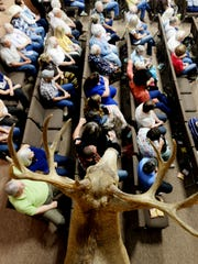 People in the sanctuary at Open Range Fellowship, a cowboy church in Greenwood.  Henrietta Wildsmith/The Times