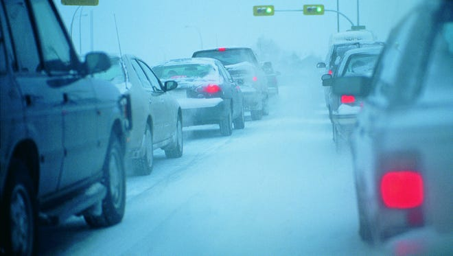 There were multiple reports of slide-offs during the Thursday morning commute.